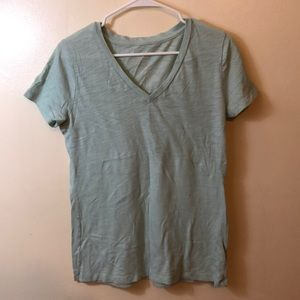 MOSSIMO Mint Green V-Neck Burnout Cotton Tee